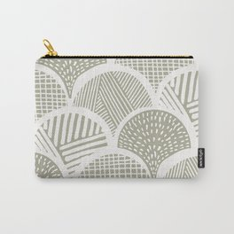 Sketched Stone Clamshells Carry-All Pouch