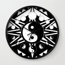 Yin Yang Orbit Wall Clock
