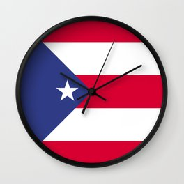 Puerto Rico flag emblem Wall Clock