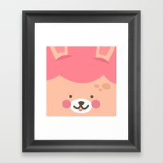 Bunny Smile Framed Art Print