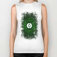 green lantern Biker Tanks featuring Green Lantern by Some_Designs