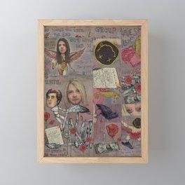 Nirvana - Light My Candles In A Daze Cause My Heart Shaped Box Is Broke Framed Mini Art Print