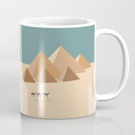 Pyramids at Giza, Egypt Travel Poster Coffee Mug