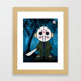 Lil Horror Classics Featuring Jason Vorhees from Friday the 13th Framed Art Print