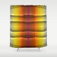 quilt Shower Curtains featuring Quilt Pattern  by Zenya Zenyaris