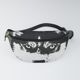 husky dog face grafiti spray art Fanny Pack