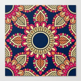 Mandala artwork, Colorful mandala flower No5 Canvas Print