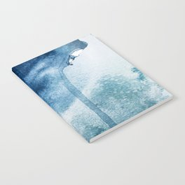 Pacific Grove: a pretty minimal abstract piece in blue by Alyssa Hamilton Art Notebook