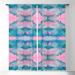 Florida Mirrored Watercolor Blackout Curtain