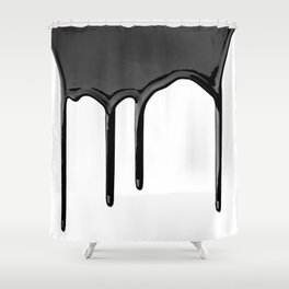 Black paint drip Shower Curtain