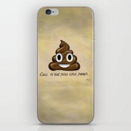 Ceci n'est pas une poop. iPhone Skin