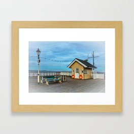 On Penarth Pier Framed Art Print