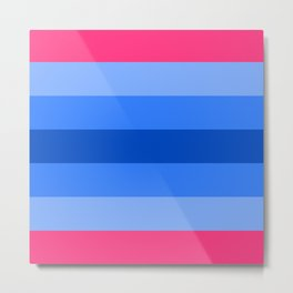 Trans Man Flag Metal Print