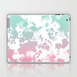 Margot - abstract painting mint and pink pastel trendy girly home decor dorm college gifts Laptop & iPad Skin