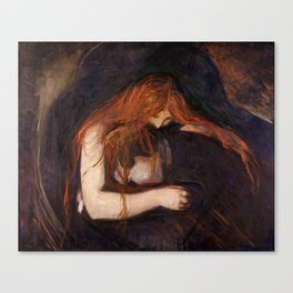 Vampire by Edvard Munch Canvas Print