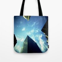 building Tote Bags featuring Building by Jacquie Fonseca