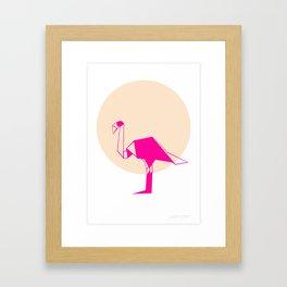 Sunset Flemingo Framed Art Print