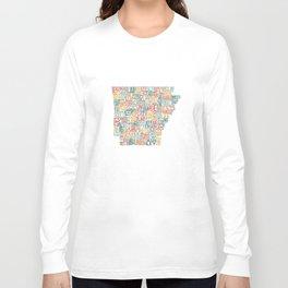 Arkansas by County Long Sleeve T-shirt