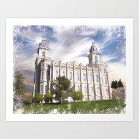 Manti Utah LDS Temple Art Print