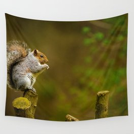 Cute Squirrel (Color) Wall Tapestry