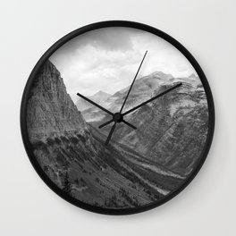 Majestic Sweep - Glacier NP Wall Clock