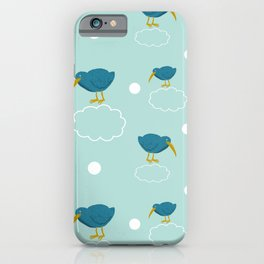 Kiwi birds on the clouds iPhone Case