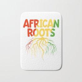 Black History Month Gift T Shirt African Roots Bath Mat
