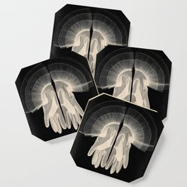 X-Ray of Vintage Gloves (square) Coaster