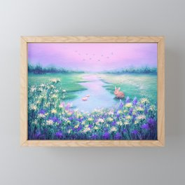 Pools of Blessing After Rain Framed Mini Art Print