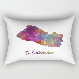 El Salvador in watercolor Rectangular Pillow