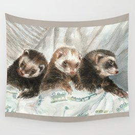 Lovely ferrets Wall Tapestry