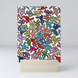 Homage to Keith Haring Color Mini Art Print
