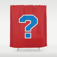 sports Shower Curtains featuring Sports ? (red) by Cary Harding