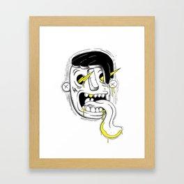 Bolt eyes Framed Art Print