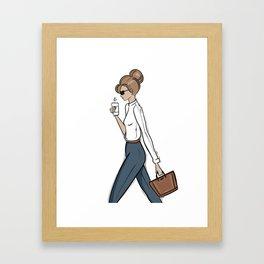 Back to Work! Framed Art Print
