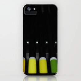 yellow green iPhone Case