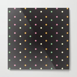 Petite Polka Dots Metal Print