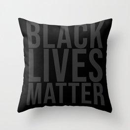 Black Lives Matter grey Throw Pillow