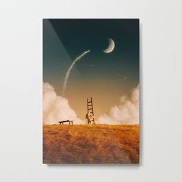 I'm going up there Metal Print