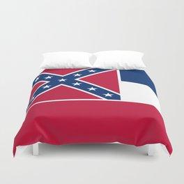 Mississippi State Flag, Authentic Version Duvet Cover