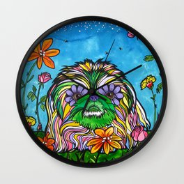 Lily Rose, the Pekingese Wall Clock