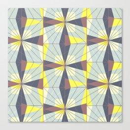 It's complicated. Bold geometric pattern in marsala, yellow and charcoal. Canvas Print
