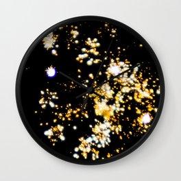 Sparkling Firework Explosion Wall Clock