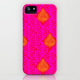 PLANTAIN PALACE - RED/PINK/ORANGE iPhone Case