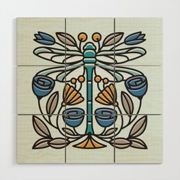 Dragonfly tile Wood Wall Art