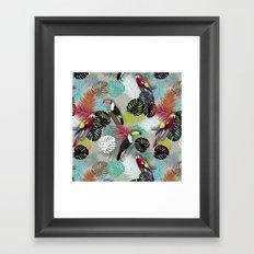 Tropical Birds (Color 2 - Bold) Framed Art Print
