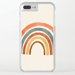 Abstract Rainbow 88 Clear iPhone Case