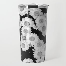 The Daisy Garden (Black and White) Travel Mug