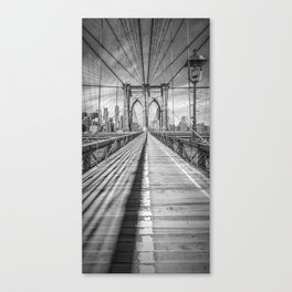 NEW YORK CITY Brooklyn Bridge | Panorama Canvas Print