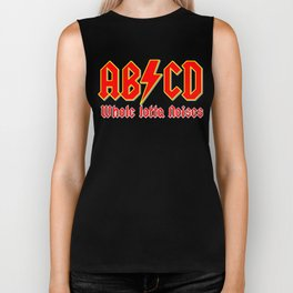 ABC, a heavy metal parody Biker Tank